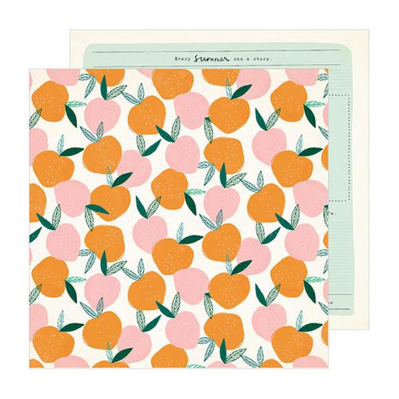 דף קארדסטוק - Peachy