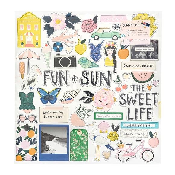 מדבקות צ'יפבורד - Sunny Days Collection