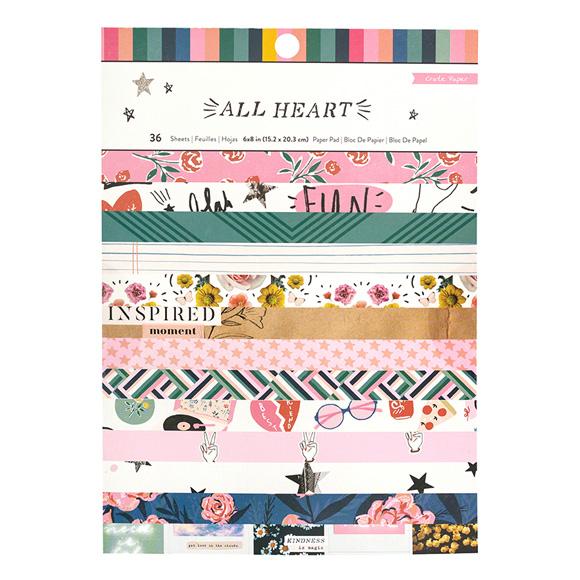 מארז דפי קארדסטוק All Heart Collection A5