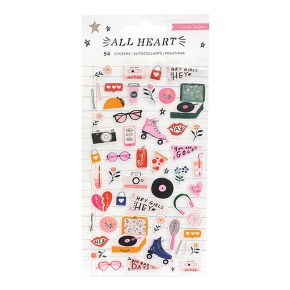 מדבקות פאף - All Heart Collection