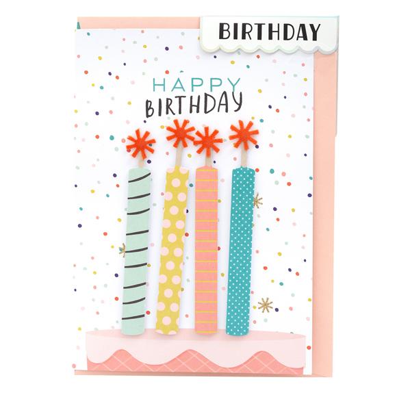כרטיס ברכה ומעטפה Birthday - Candles