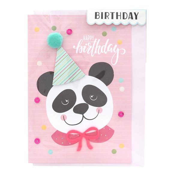 כרטיס ברכה ומעטפה Birthday - Panda