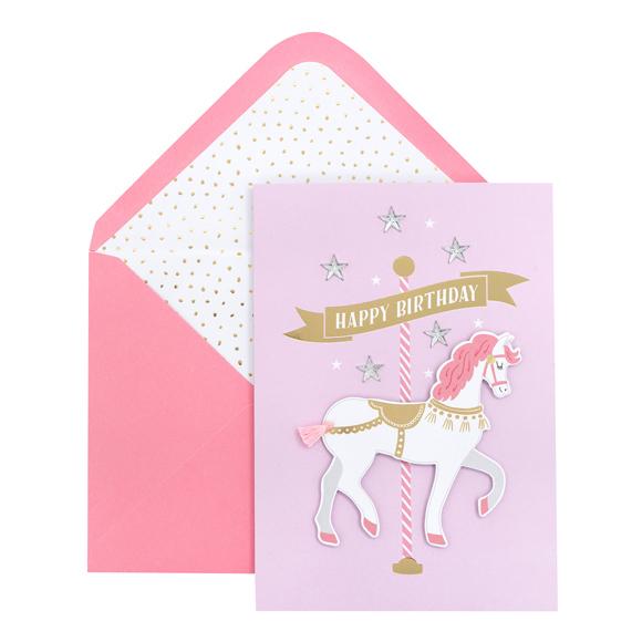 כרטיס ברכה ומעטפה Birthday - Carousel