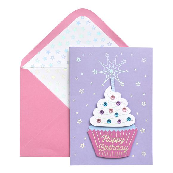 כרטיס ברכה ומעטפה Birthday - Cupcake