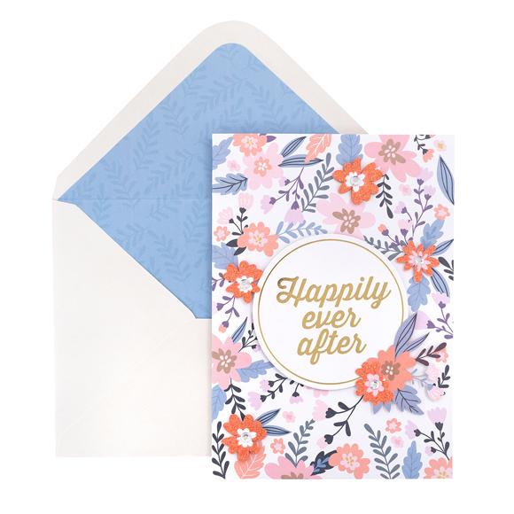 כרטיס ברכה ומעטפה - Ever Aater Floral