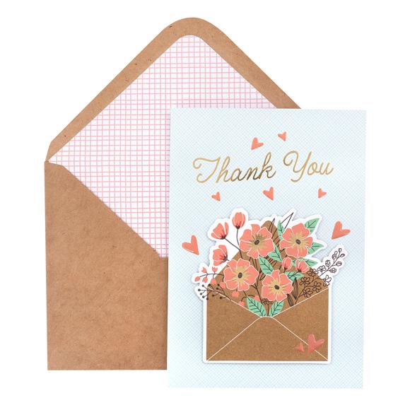 כרטיס ברכה ומעטפה - Thank You Letter