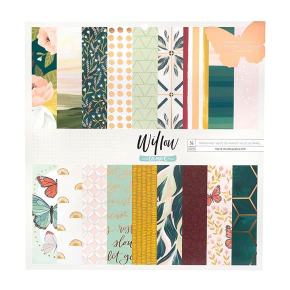 "מארז דפי קארדסטוק ""12 Willow Collection"