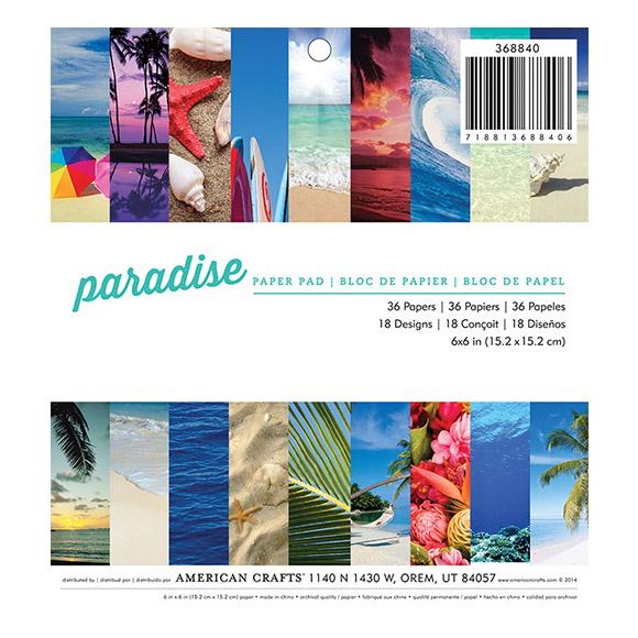 "מארז דפי קארדסטוק ""6 Paradise Collection"