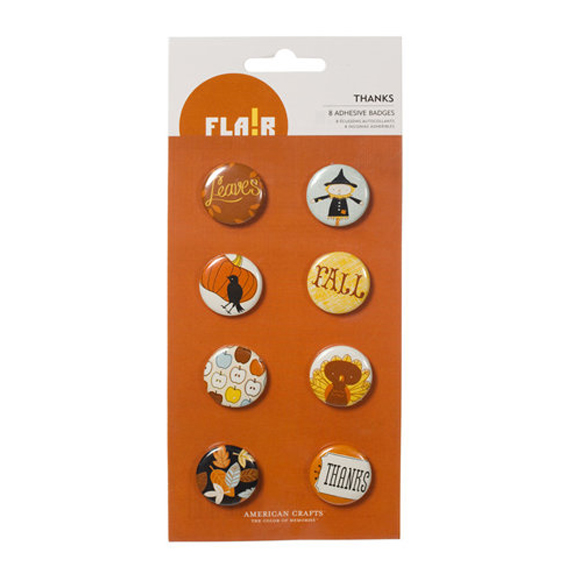 סיכת קישוט דביקה Thanks - Flair Badges