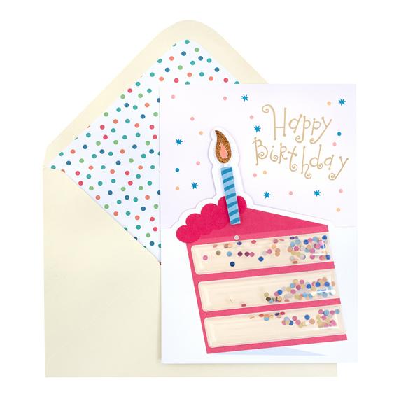 כרטיס ברכה ומעטפה - Funfetti