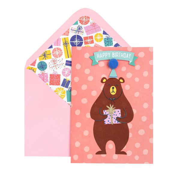 כרטיס ברכה ומעטפה - Beary Good Birthday