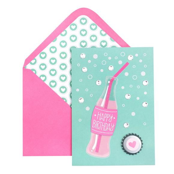 כרטיס ברכה ומעטפה Birthday - Soda