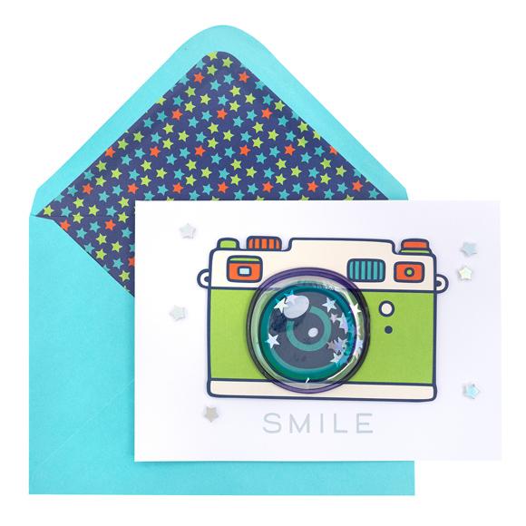 כרטיס ברכה ומעטפה Everyday - Smile