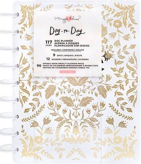 פלאנר דיסקיות - Day to Day Planner - Golden Foil