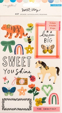 מארז מדבקות - Sweet Story - Sticker Book