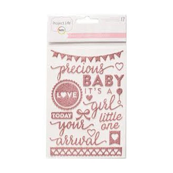 מדבקות פאף Baby Girl Edition Collection