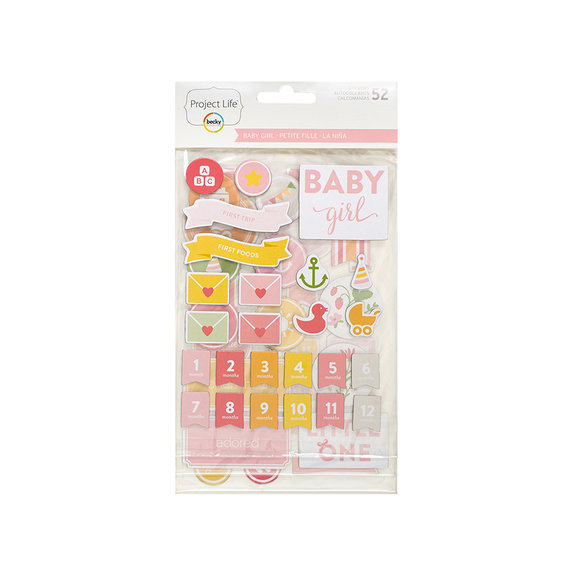 מדבקות צ'יפבורד Baby Girl Edition Collection