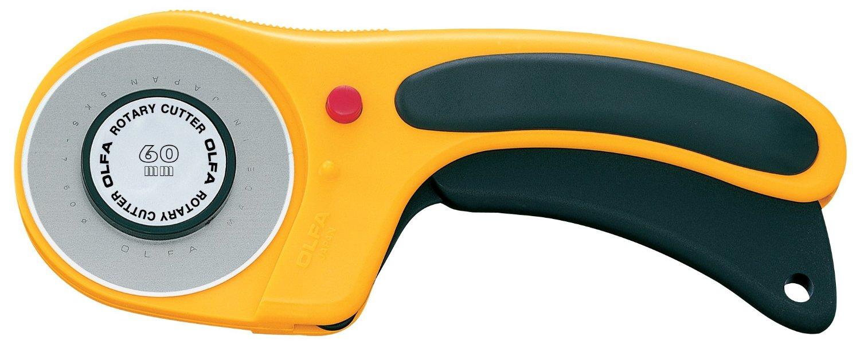 גלגלת לחיתוך בדים - Olfa Deluxe Rotary Cutter - 60mm