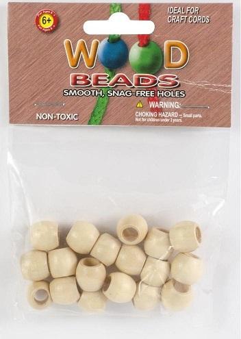 חרוזי עץ למקרמה - Round Wood Beads