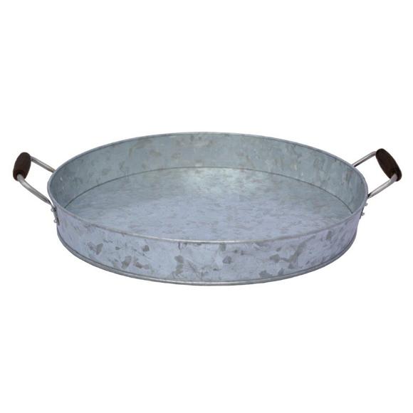 מגש עגול מפח מגלוון