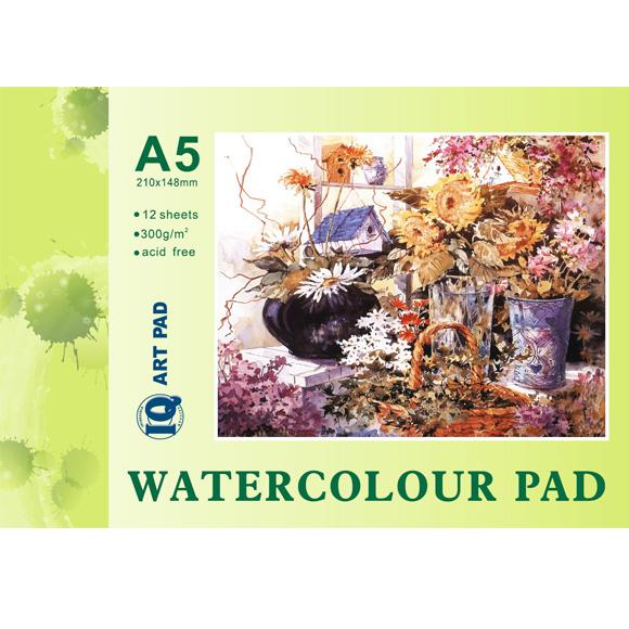 בלוק נייר לצבעי מים A5