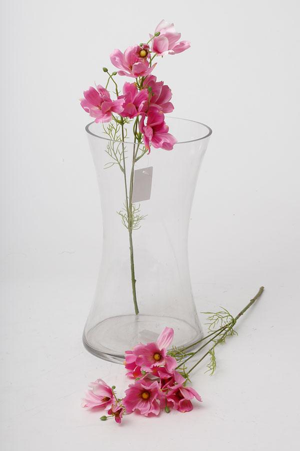 בוקט פרחי שדה מלאכותי בצבע ורוד