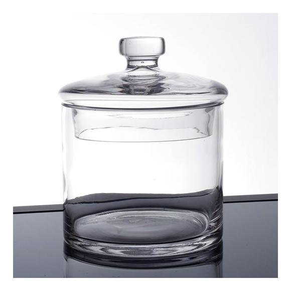 מיכל זכוכית רחב עם מכסה