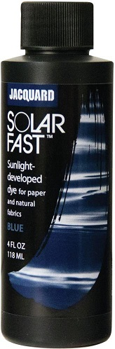 צבע להדפסי שמש - acquard SolarFast Dyes - Blue