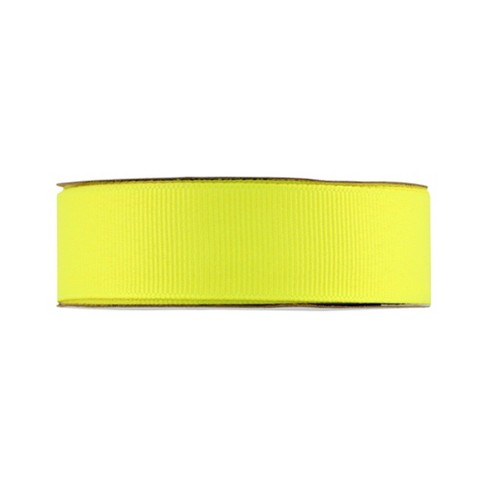 סרט בד - Grosgrain Ribbon - Lemon