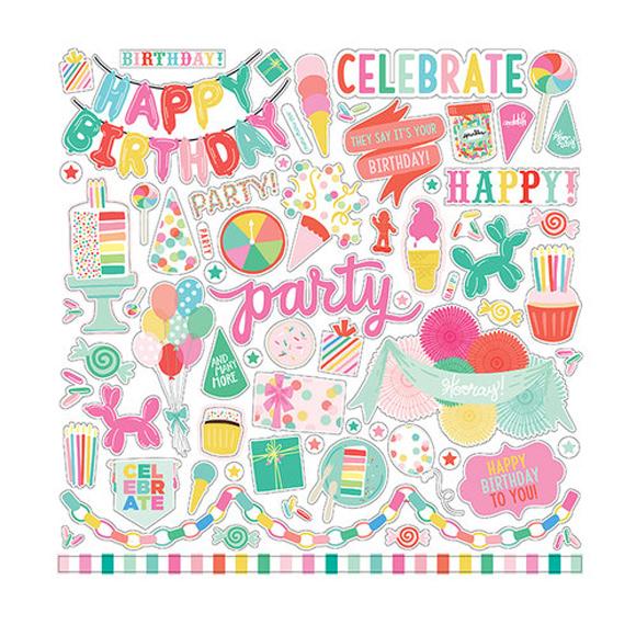 מדבקות קארדסטוק Let's Party Collection - Elements