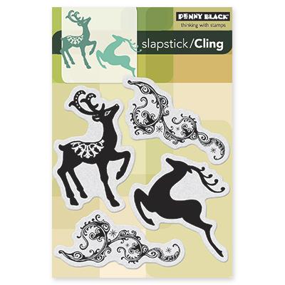 Cling Rubber Stamp - Dancing Deer
