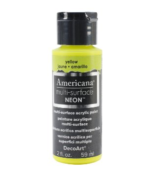Americana Multi-Surface Neon Paint - Yellow