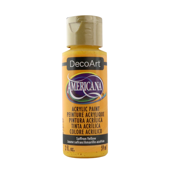 Americana Acrylic Paint - Saffron Yellow