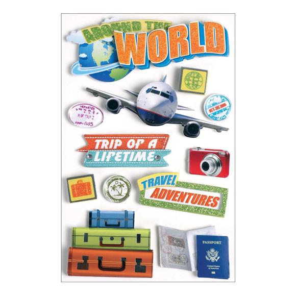 מדבקות - Paper House 3D - World Travel