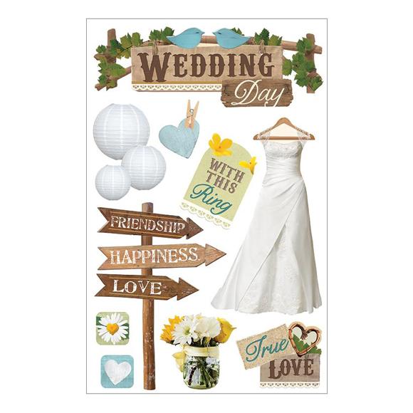 מדבקות - Paper House 3D - Wedding
