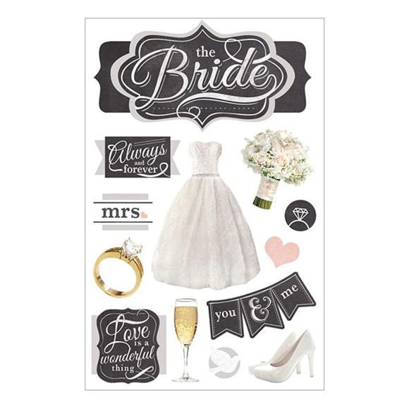 מדבקות - Paper House 3D - The Bride