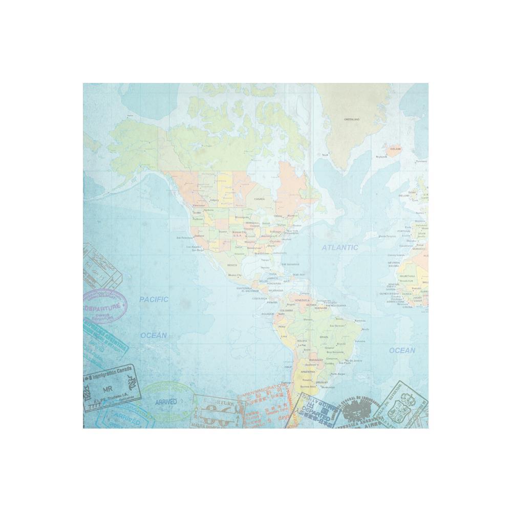 דף קארדסטוק - Travel - World Travel Western Hemisphere Map