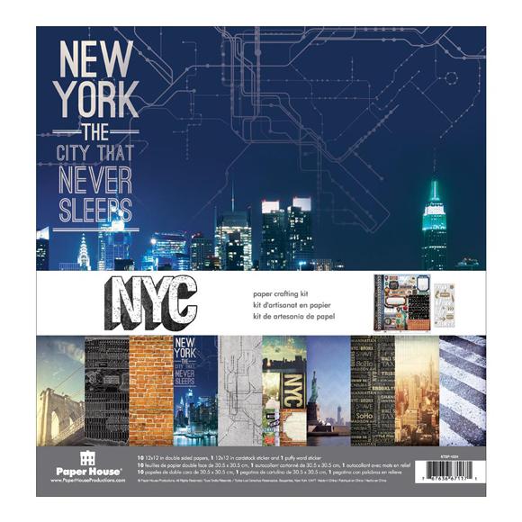 """מארז דפי קארדסטוק """"12 New York City Kit"""