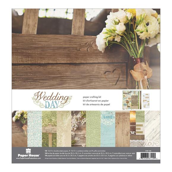 """מארז דפי קארדסטוק """"12 Wedding Day Kit"""