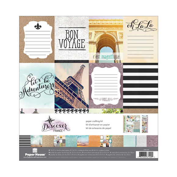 "France Paper Crafting Kit 12""X12"