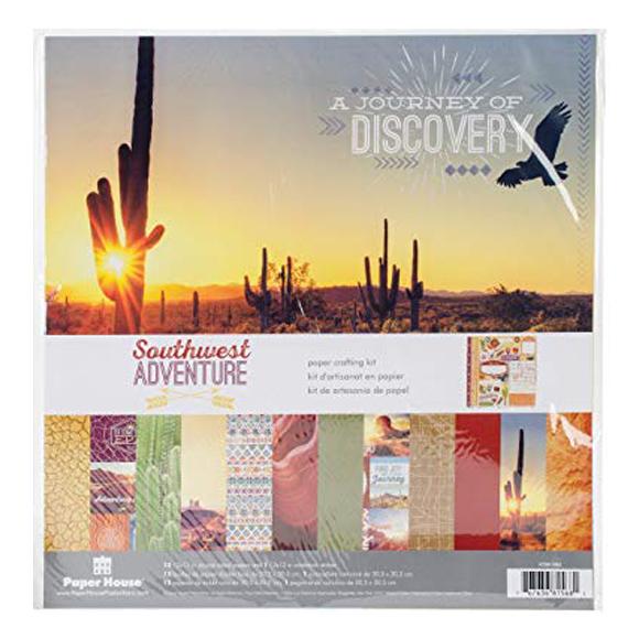 "מארז דפי קארדסטוק ""12 Southwest Adventure Kit"