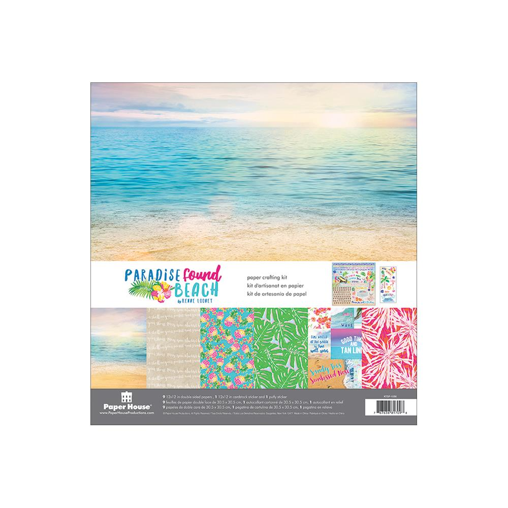 "Paradise Found Beach Paper Crafting Kit 12""X12"