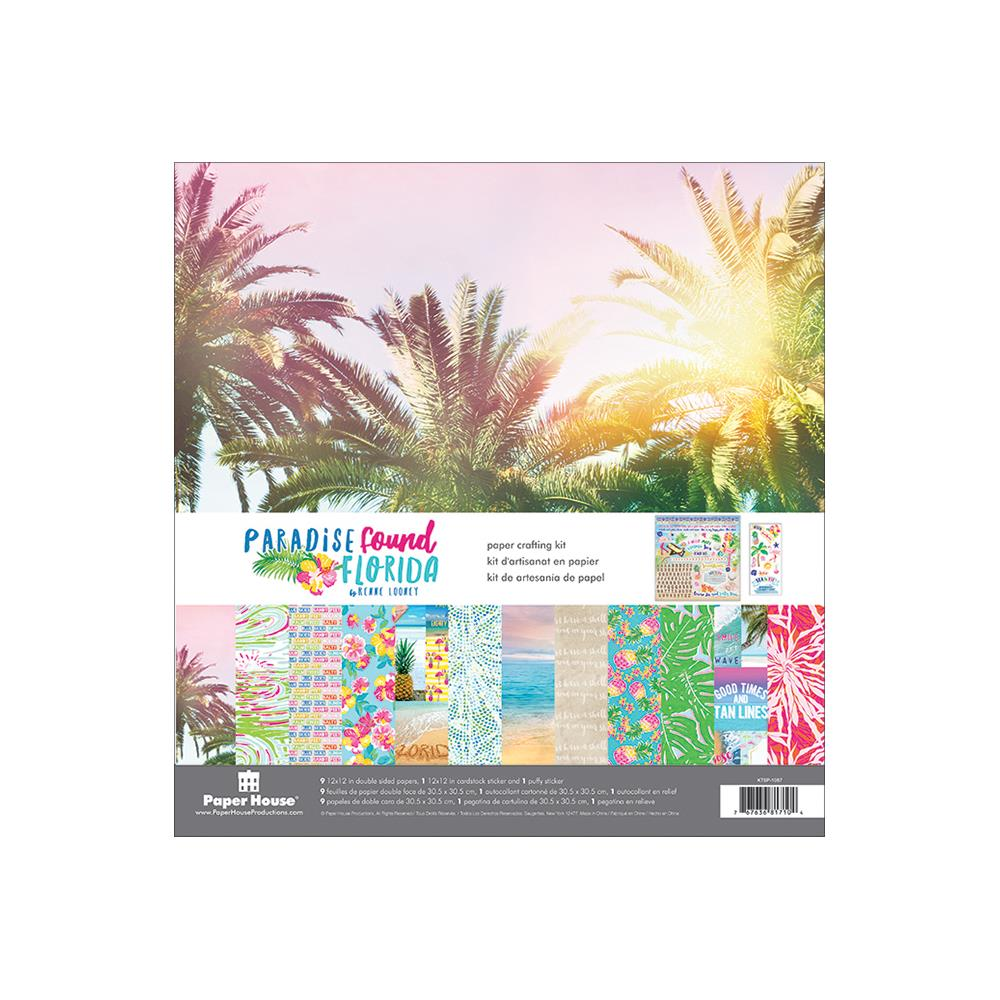 "Paradise Found Florida Paper Crafting Kit 12""X12"