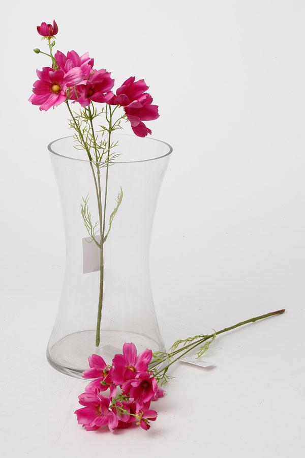 בוקט פרחי שדה מלאכותי בצבע פוקסיה