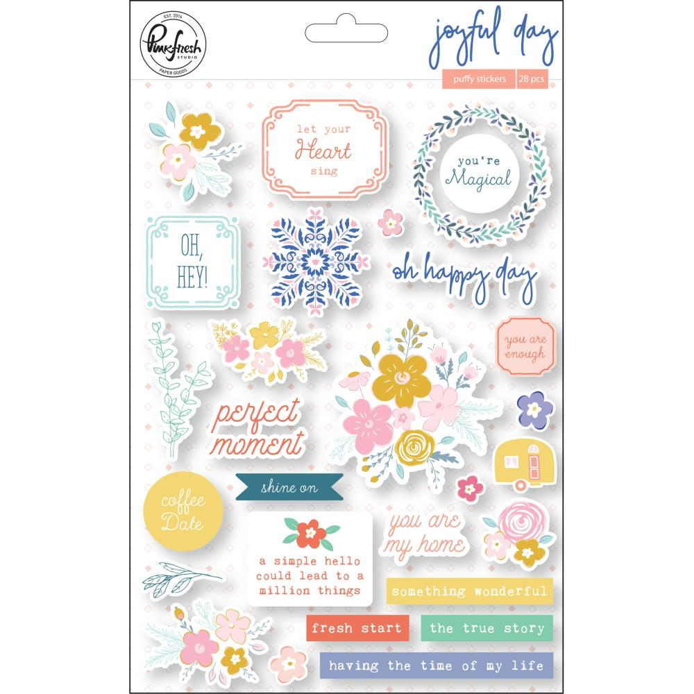 מדבקות פאף - Joyful Day Puffy Stickers
