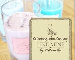נר צילינדר גדול - Drinking Chardonnay