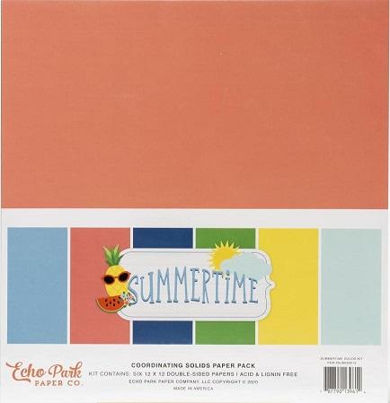 "מארז קארדסטוק 12"" - Summertime Double-Sided Solid Cardstock"