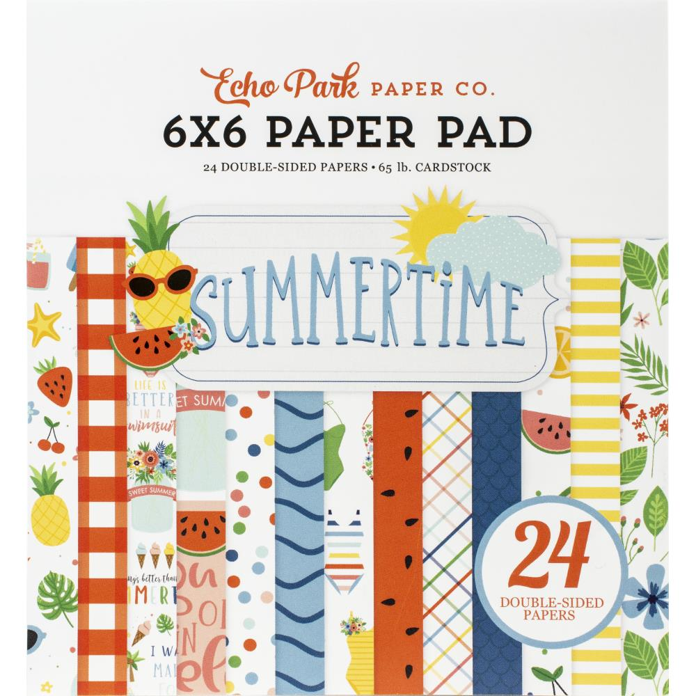 "מארז קארדסטוק 6"" - Summertime Double-Sided Paper Pad"