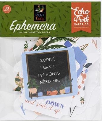 מארז חיתוכי קארדסטוק - Plant Lady Cardstock Ephemera Icons