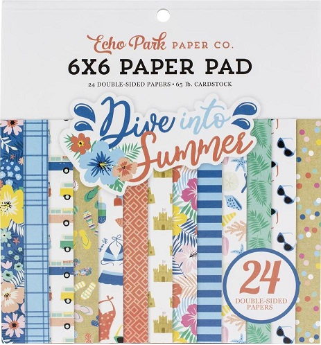"מארז קארדסטוק 6"" - Dive Into Summer Paper Pad"